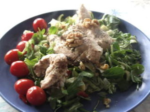 Gresk salat med kylling
